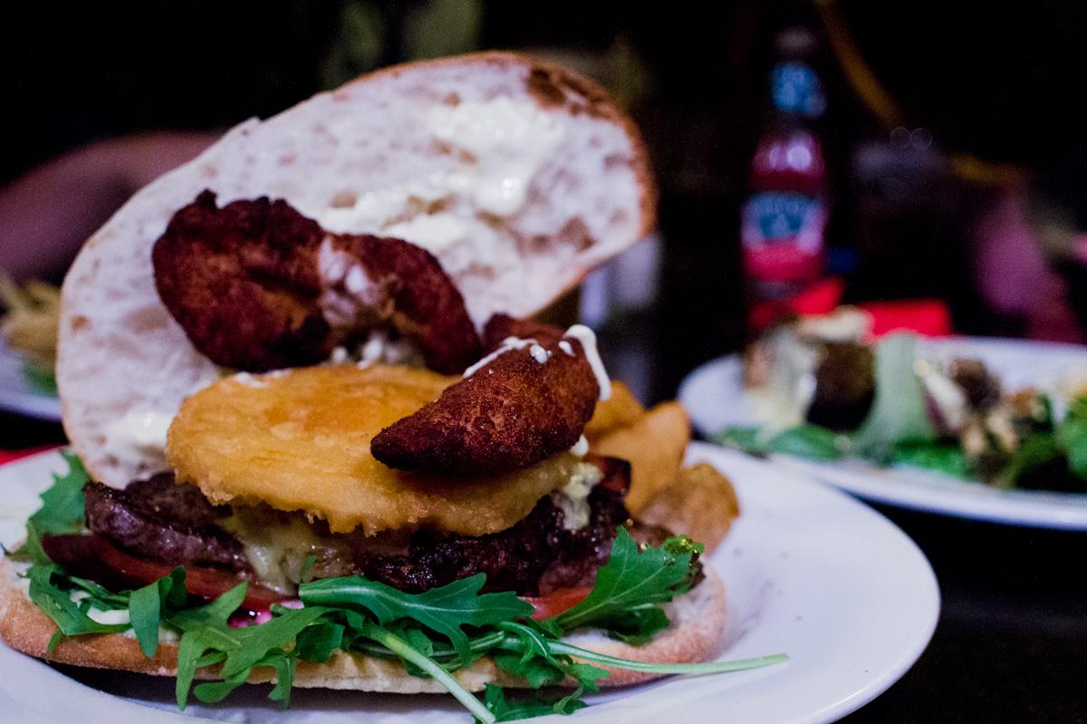 Melbourne Cray !!! The Bogan Burger at Napier Hotel   That