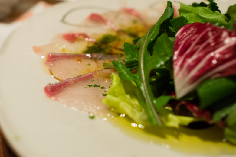 The hamachi carpaccio was one of my favorite dishes. The fresh hamachi ...